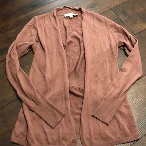 Mauve Open Cardigan LOFT